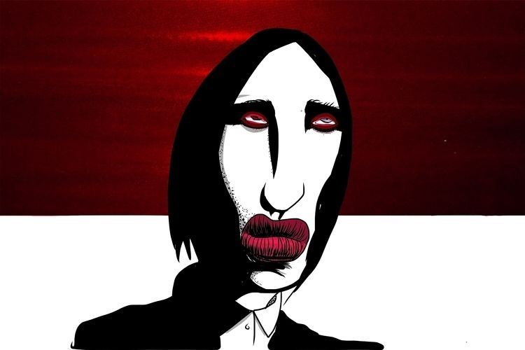 Marilyn Manson - marilynmanson, illustration - odermann | ello