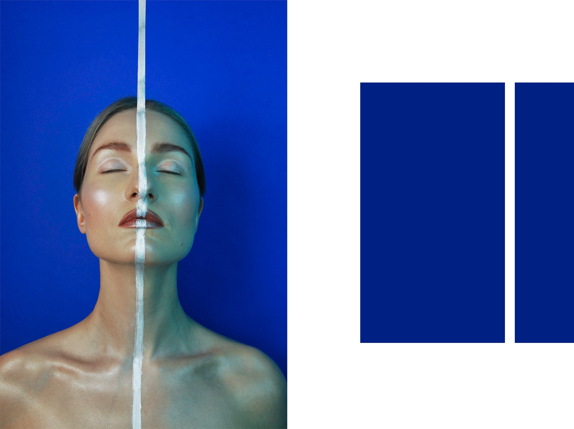 Make-up inspirowany obrazem. 'Onement VI' by Barnett_Newman