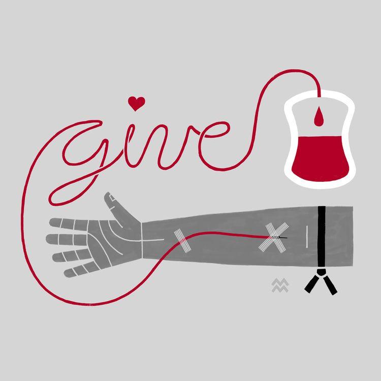 Give Blood Banned - miriamdraws - miriamdraws   ello