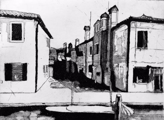 Venice (Burano) 20x15 cm - etching - chris_schauzi | ello