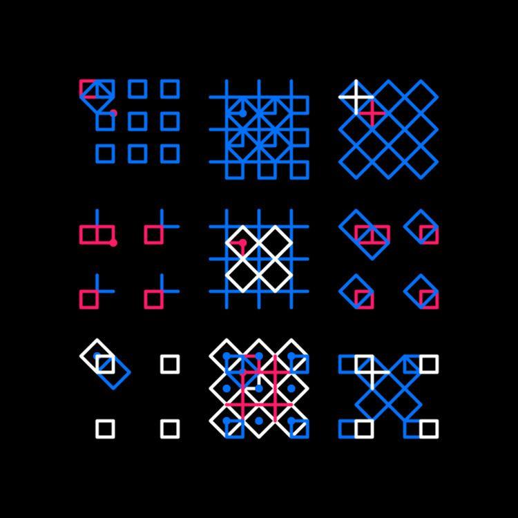 Geometric Shapes / 180415 - processing - sasj | ello
