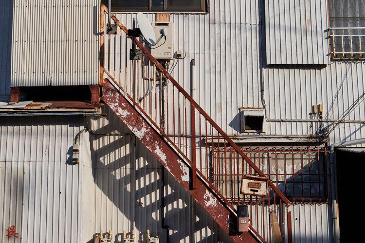 Stairs Shadows - Tokyo, Japan, Pipes - gullevek | ello