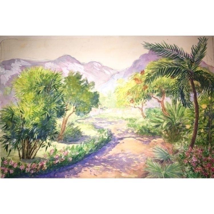 watercolour, landscape, guache - yuliavirko | ello