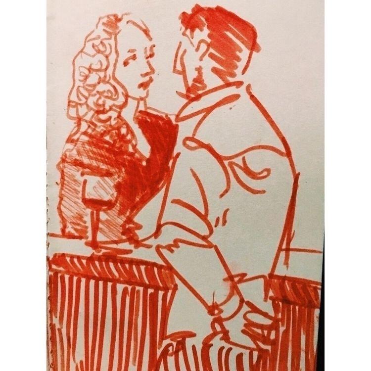 Sketching - red, marker, sketch - yuliavirko | ello