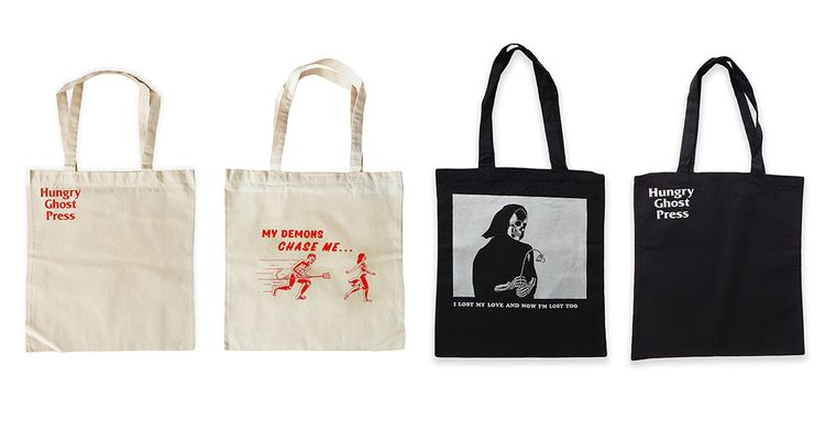 OVE HURTS · TOTE BAG SERIES Pic - hungryghostpress | ello