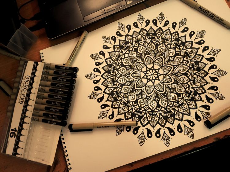 ' Quintessential - art, mandala - the_lonewolfdiaries | ello