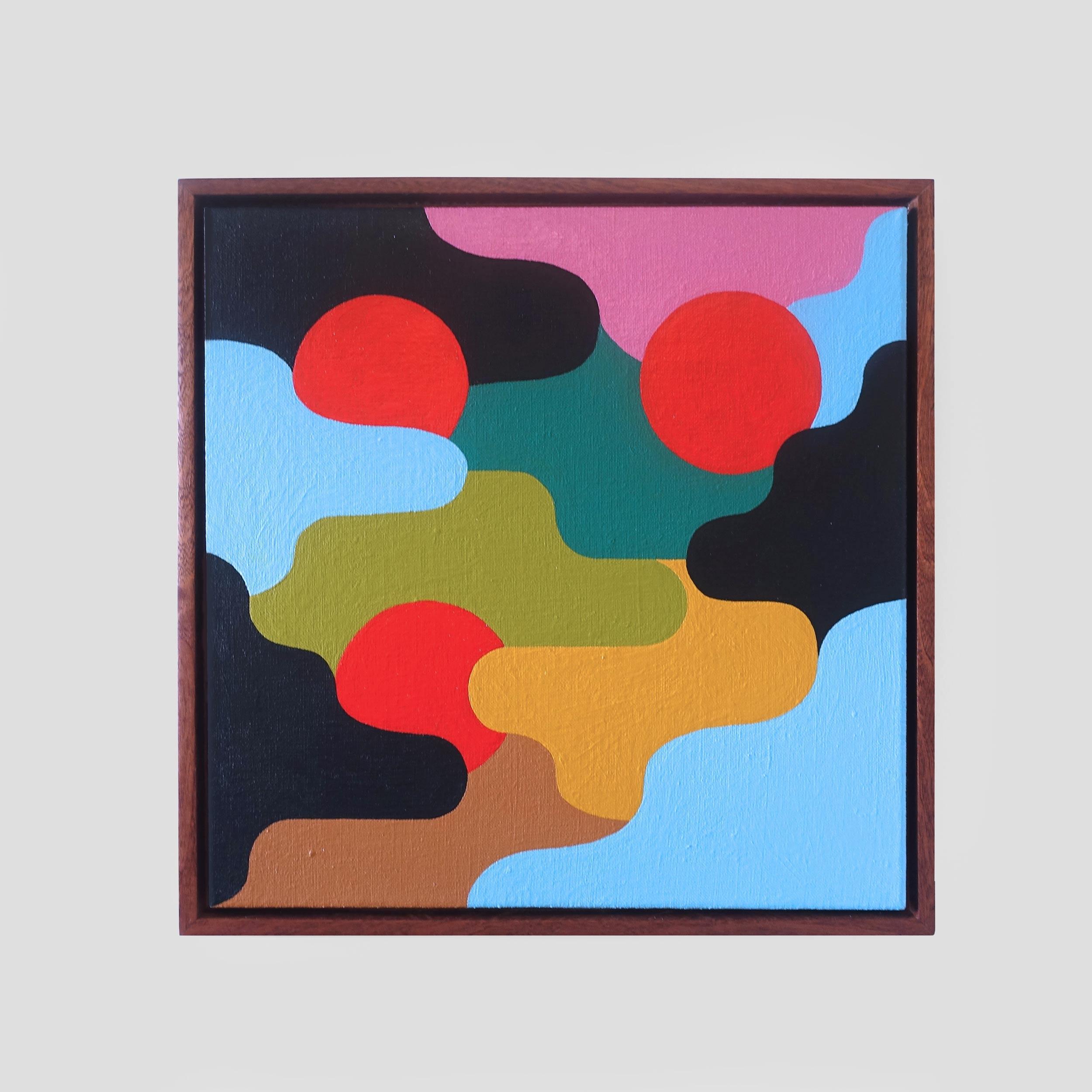 Square Composition 8 40 cm acry - samsmythart | ello