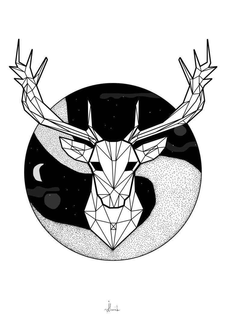 deer straight lines - everhooder | ello