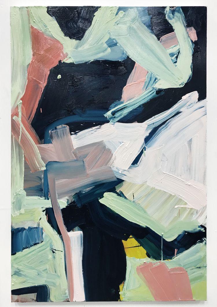 Untitled, 2018, oil canvas, 152 - adriancharlessmith   ello