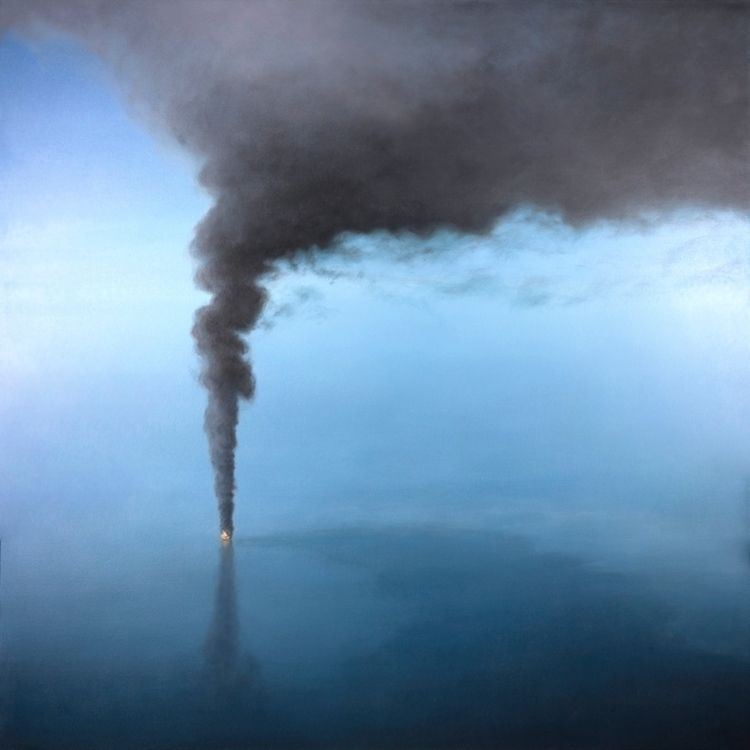 Oceans Burn. Oil canvas, 48 (12 - carlyoshihara | ello