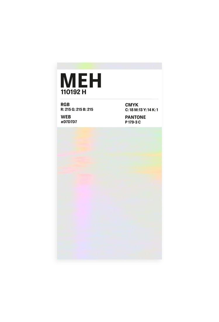Meh - Colour Card Typography - mrkttnr | ello