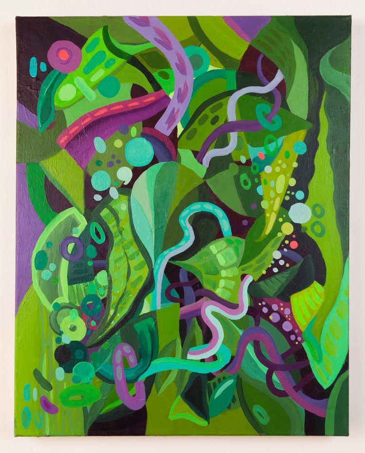 Entropy Green canvas 16x20in - acrylic - shalimarluis | ello
