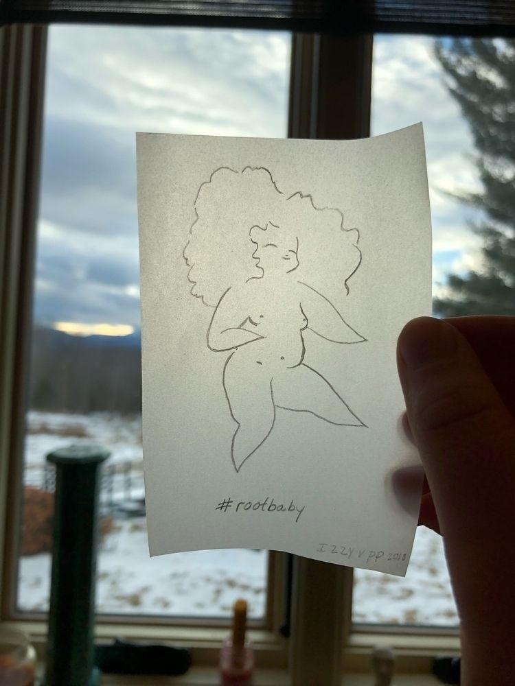 rootbaby, pencil, tracingpaper - izzyvp | ello