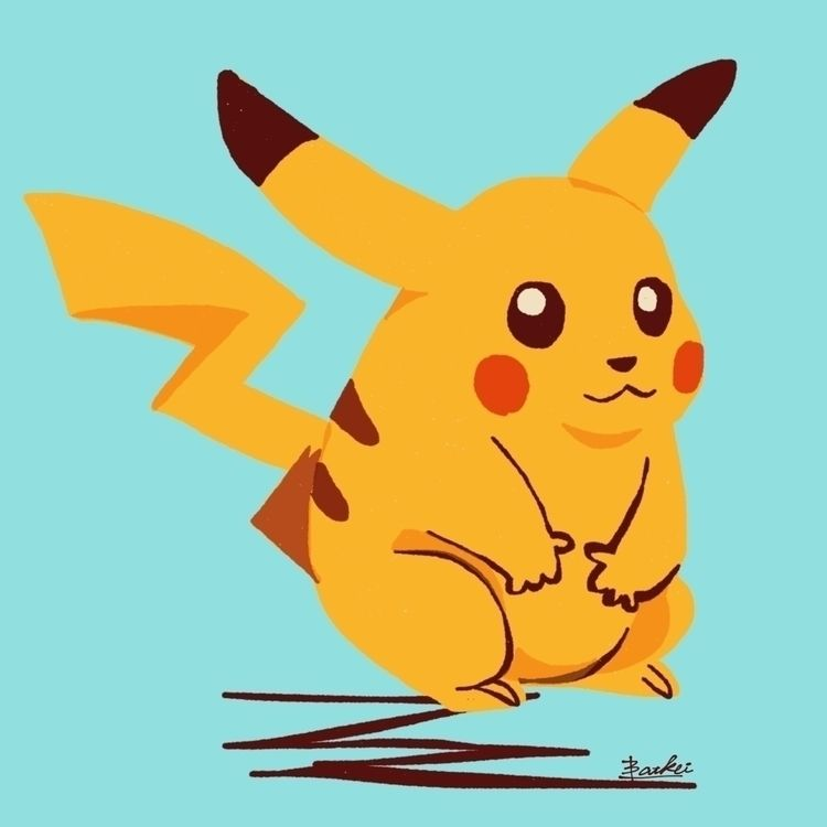Pikachu - illustration, batkei, fiftyrhree - batkeiart | ello