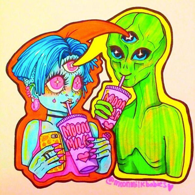 Space friends - moonmilkbabies   ello