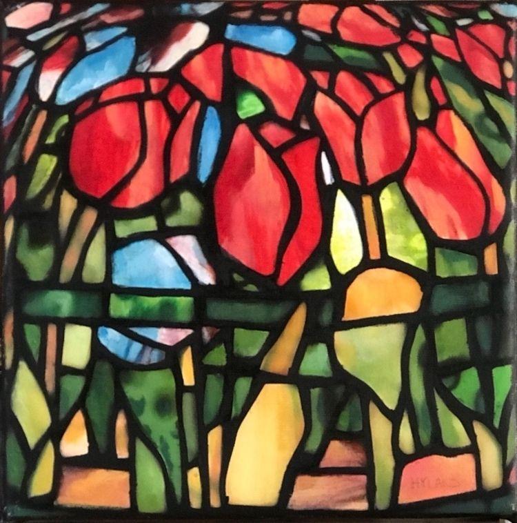 "Flower Smiles Today"" (8x8 inche - johnnyhyland | ello"