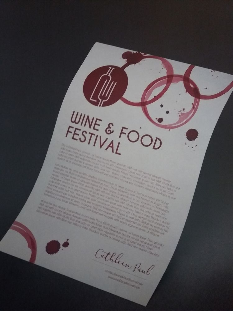 WINE FOOD FESTIVAL full design  - candyflip | ello