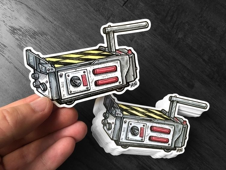 Ghostbusters Trap stickers! Fre - bradalbright | ello
