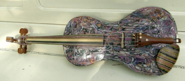 UNIQUE electric violin textile - artecoart   ello