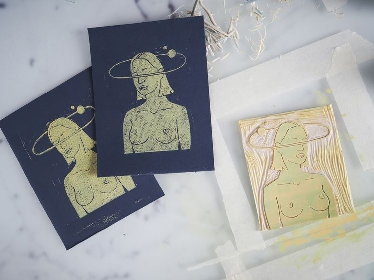 Printmaking process Test printi - vivecajohansen | ello