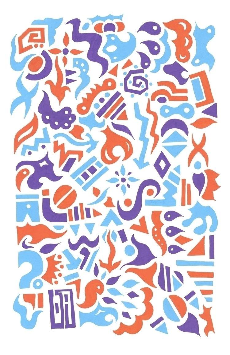 'Cone - ELLO, purple, posca, acrylic - bethcolecreative | ello