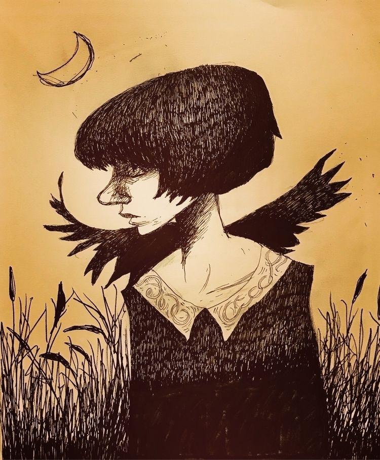Barley Witch sketch - fantasy, fantasyart - inkybat   ello