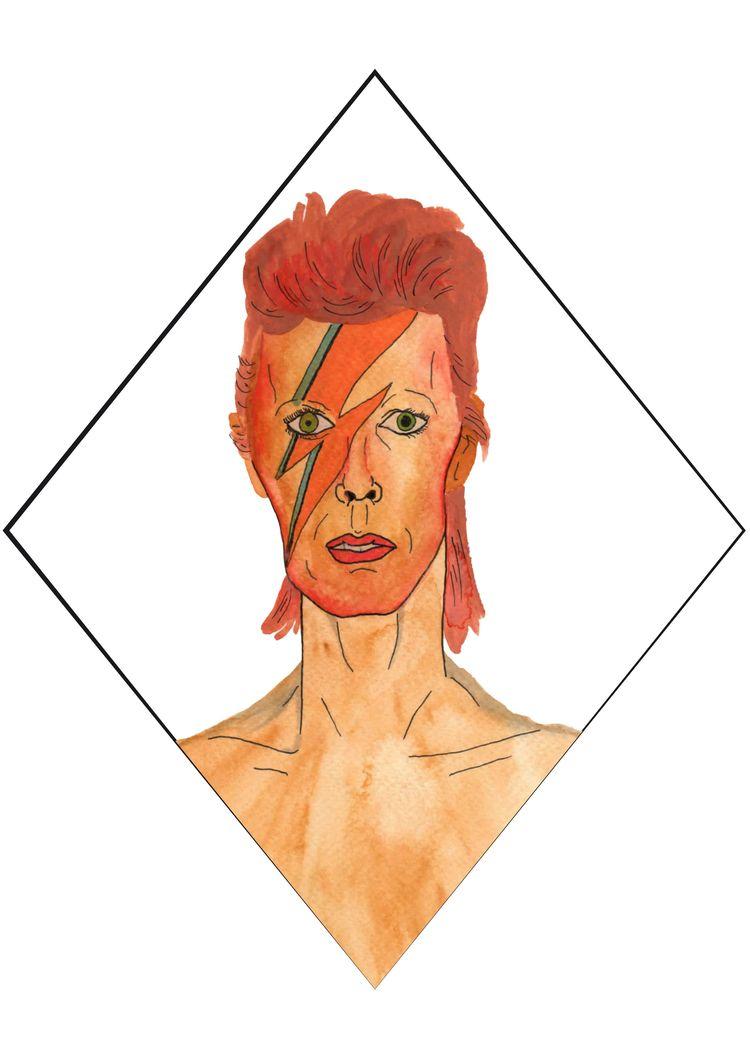 DavidBowie, Bowie, FanArt, WhiteDuke - herrralf | ello