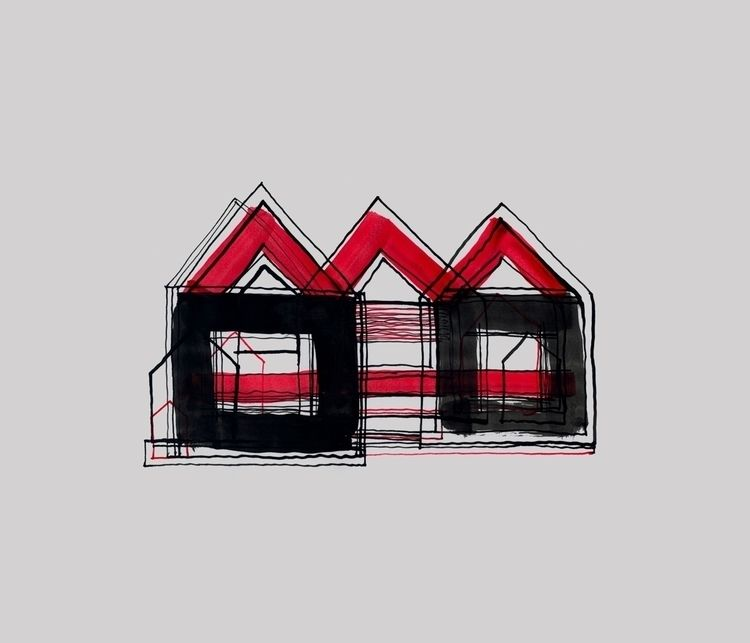 Red Black Houses 03 drawings/pa - istvanocztos | ello