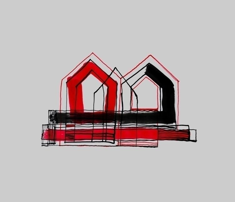 Red Black Houses 01 drawings/pa - istvanocztos | ello