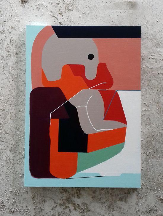CANVAS ETERNALLY 50x70 acrylic  - moonmambo | ello