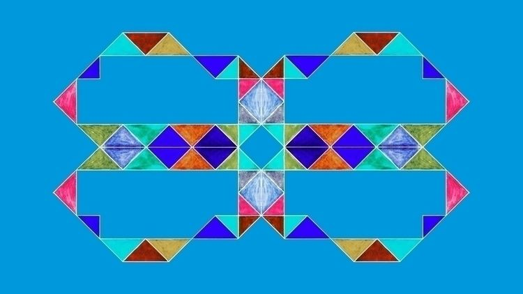 Reflective Triagles Light Blue  - istvanocztos | ello