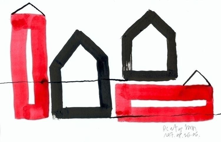 Red Black Houses 05 drawings/pa - istvanocztos | ello