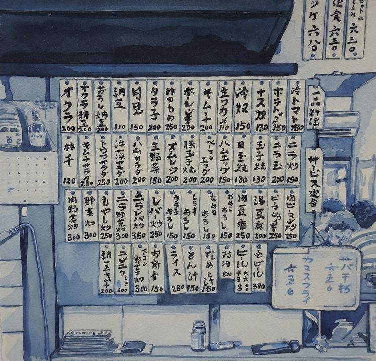 Tokyo Corner - watercolour, painting - bluebearvendingco | ello