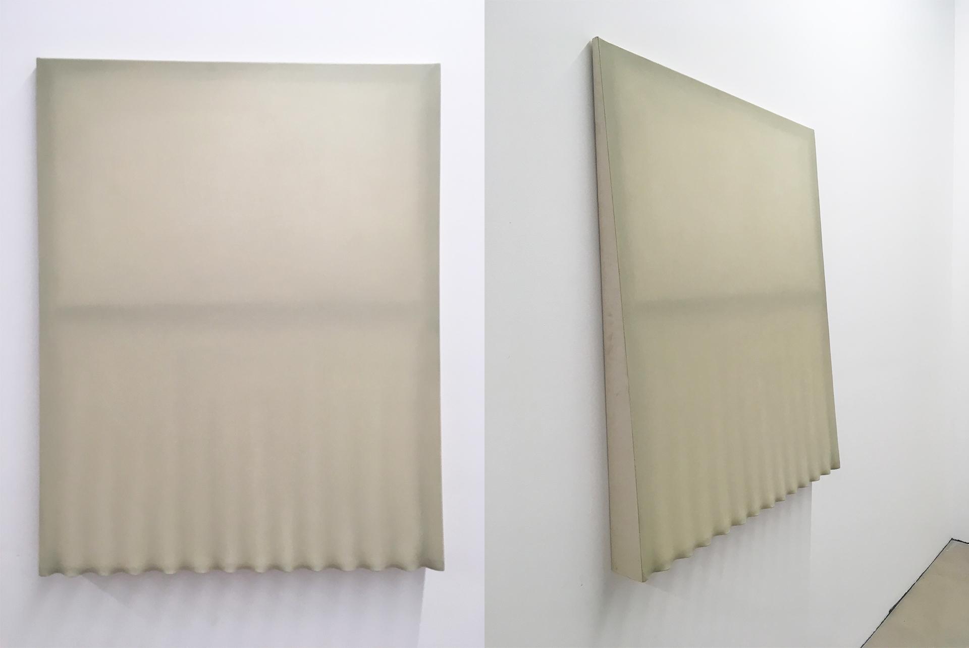 Obraz przedstawia dwa ujęcia pracy znanej artystki.