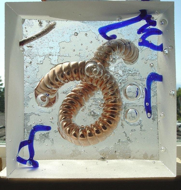 glass Hotshop, sand cast block  - thoskite   ello
