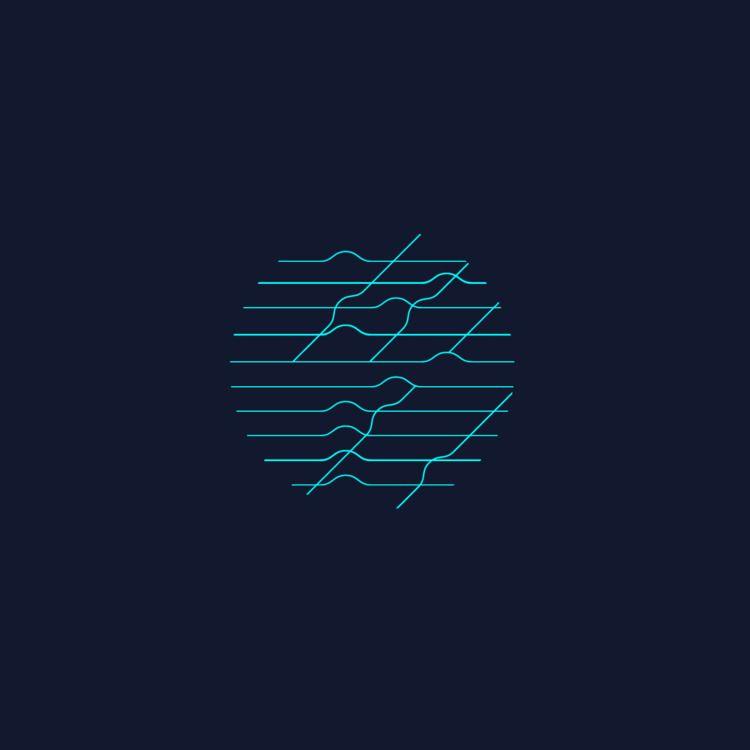 wave blue - bahia, pic, art, minimal - cambur | ello