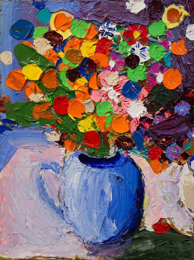 Flowers IV Acrylic canvas 24 16 - chunbumpark   ello