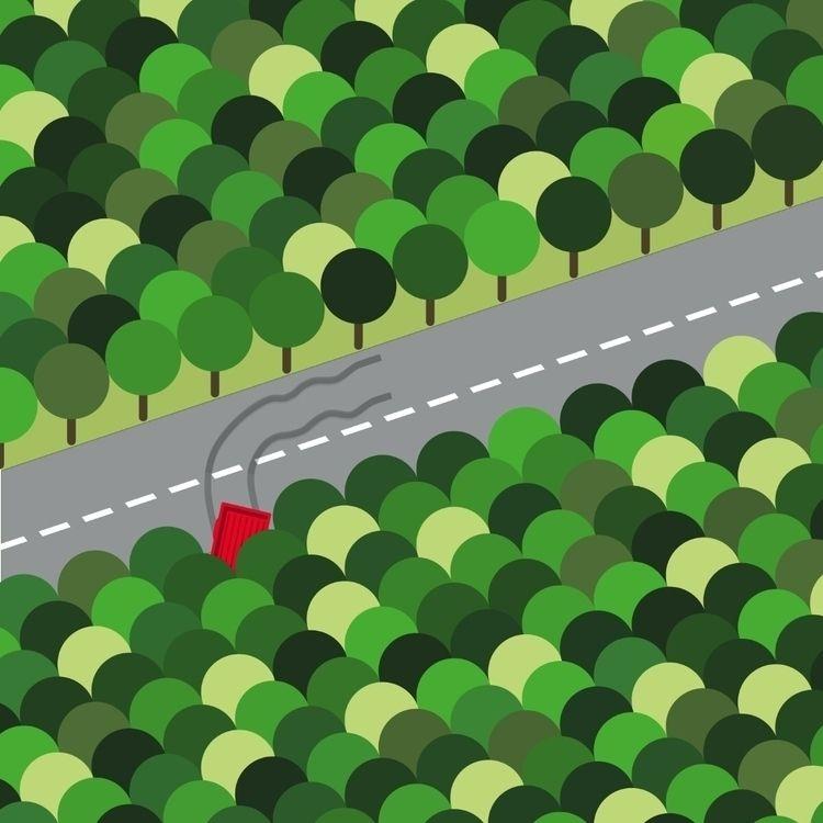 FOREST WALK - forest, caraccident - bembureda | ello