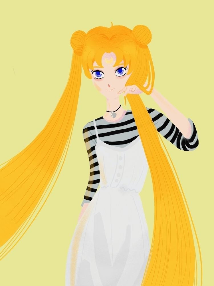 love drawing Usagi eleven years - wildflower86 | ello