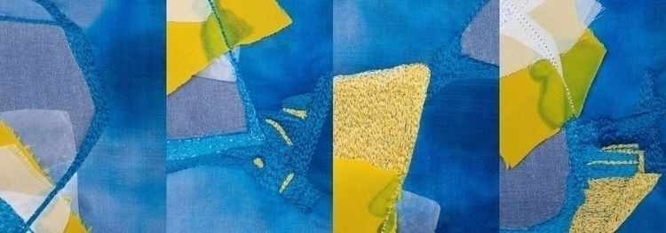 Yellow blue, mixed media (Canso - monicasthreads | ello