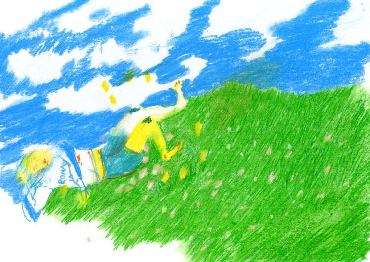 spring 'waiting garden - KC, drawing#pastels - kaysee | ello