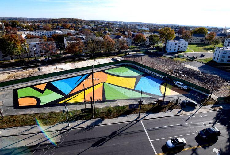 Parking Lot Mural Installation  - mattcorrado | ello