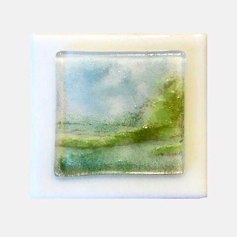"Miniature landscape ""Field - glassart - loubeeferguson | ello"