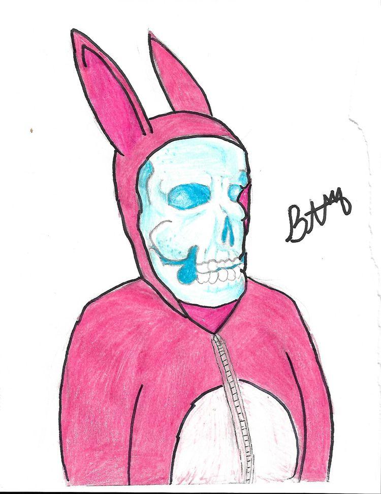 Bunny Skull - Pink, Donny, Darko - brandonmac57 | ello