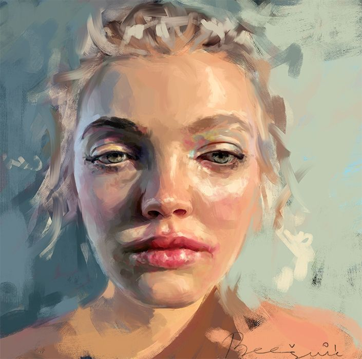 Portrait study  - portraiture, artwork - ivanabesevic_studio | ello