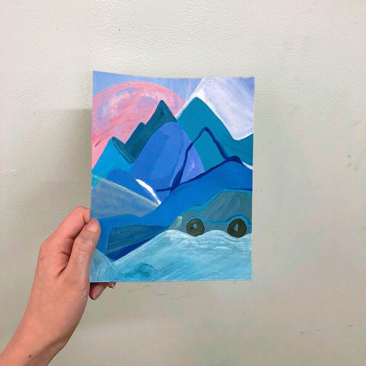 Winter mountain Summer - illustration - draw_spring | ello