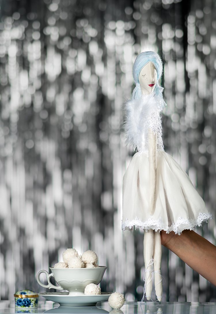 White Swan Textile Art Doll - whiteswan - graziasz | ello