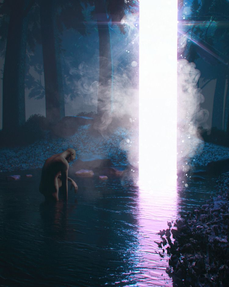 night walk - cinema4d, design, illustration - inward_vision   ello