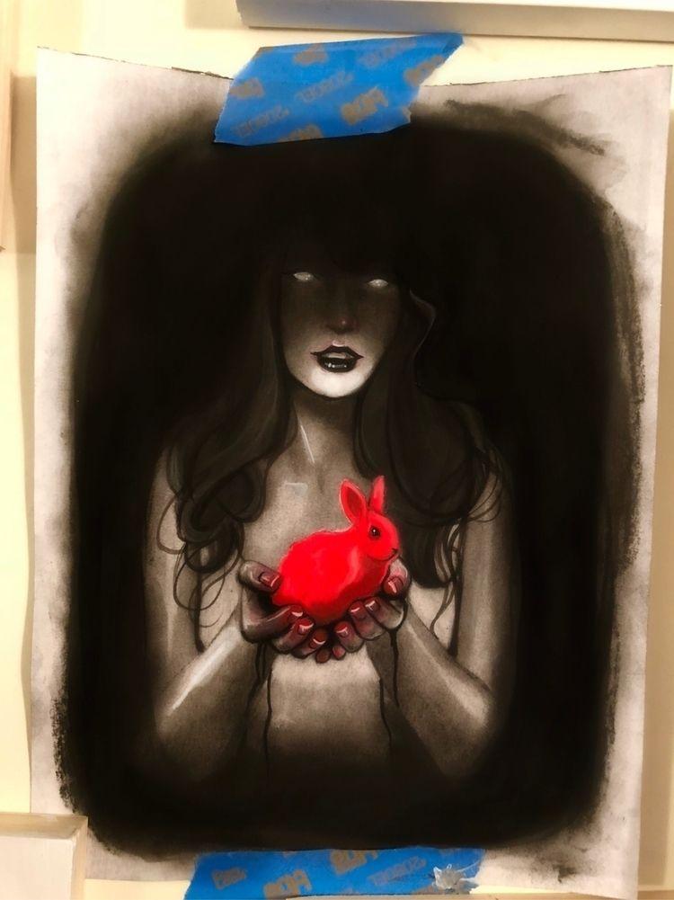 Untitled Acrylic charcoal paper - amandastalter   ello