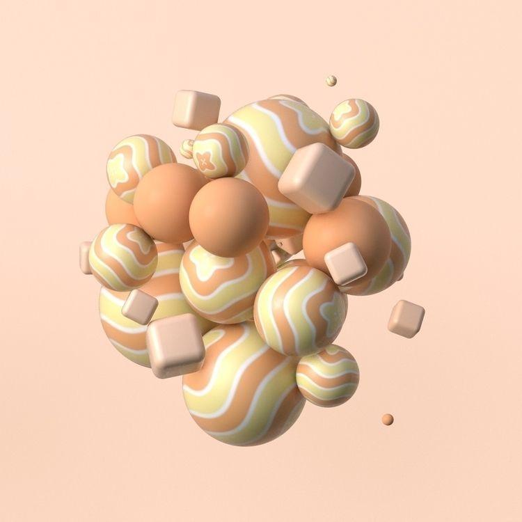 3D, Illustracion, Render, Colorful - sebastianfuentez | ello